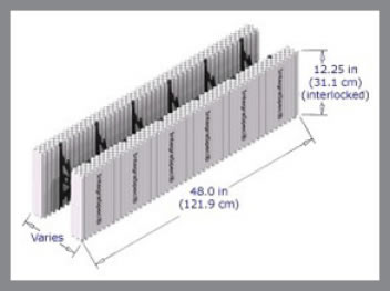 Building ICF Wall Internal structure cut-away