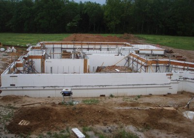 ICF Home with Partial Basement