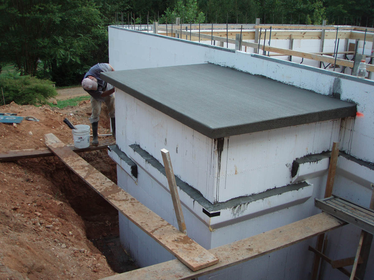Icf Home With Basement The Hybrid Group Inc
