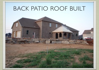 Back Patio Roof Built - Two Story ICF Home - The Hybrid Group Inc. - Murfreesboro Tennessee