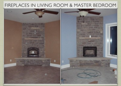 Fireplaces in living room and master bedroom - Two Story ICF Home - The Hybrid Group Inc. - Murfreesboro Tennessee