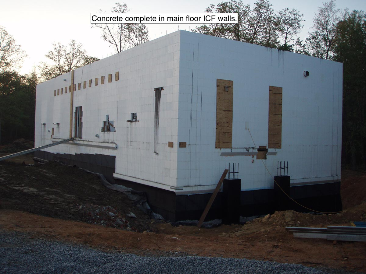ICF Basement with Concrete Patio Above